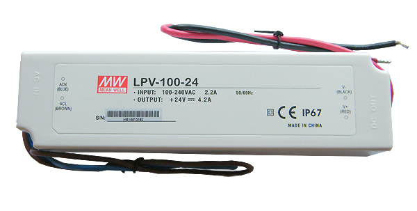 LED zdroj Meanwell LPV-100-24 | 24V | 100W | 4,2A | IP67 |