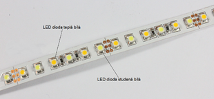 LED pásek CCT 3528 EPISTAR 120LED 9,6W 12V IP20