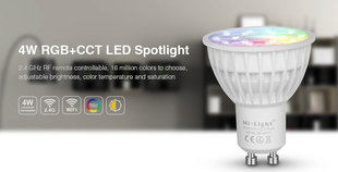 Mi-Light LED bodovka RGB+CCT | 4W | GU10 | 280lm