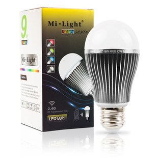 Mi-Light LED žárovka RGB+WW | 9W | E27 |