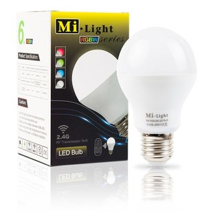 Mi-Light LED žárovka RGB+CW | 6W | E27 |