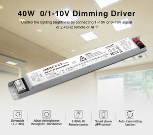 Stmívatelný LED driver Mi-Light PL1 | 0/1-10V | RF 2,4GHz | WIFI | 40W | 900mA |